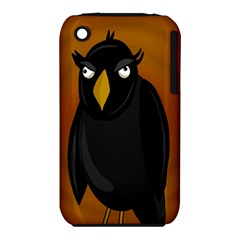 Halloween   Old Black Rawen Apple Iphone 3g/3gs Hardshell Case (pc+silicone) by Valentinaart