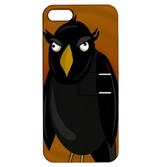 Halloween   Old Black Rawen Apple Iphone 5 Hardshell Case With Stand by Valentinaart