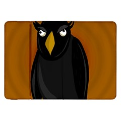 Halloween   Old Black Rawen Samsung Galaxy Tab 8 9  P7300 Flip Case by Valentinaart