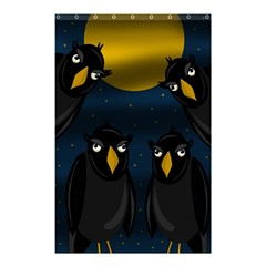 Halloween   Black Crow Flock Shower Curtain 48  X 72  (small)  by Valentinaart