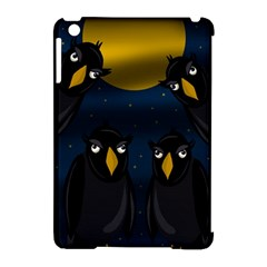 Halloween   Black Crow Flock Apple Ipad Mini Hardshell Case (compatible With Smart Cover) by Valentinaart