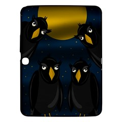 Halloween   Black Crow Flock Samsung Galaxy Tab 3 (10 1 ) P5200 Hardshell Case  by Valentinaart