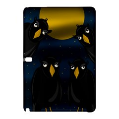 Halloween   Black Crow Flock Samsung Galaxy Tab Pro 12 2 Hardshell Case by Valentinaart