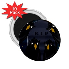 Halloween   Rip 2 25  Magnets (10 Pack)  by Valentinaart