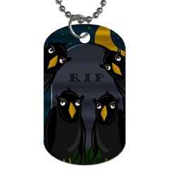 Halloween   Rip Dog Tag (two Sides) by Valentinaart