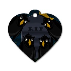 Halloween   Rip Dog Tag Heart (two Sides) by Valentinaart