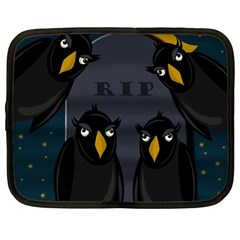 Halloween   Rip Netbook Case (large) by Valentinaart