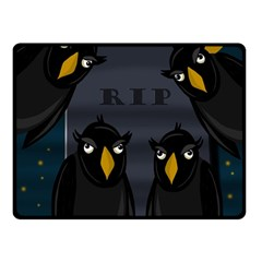 Halloween   Rip Fleece Blanket (small) by Valentinaart