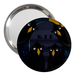 Halloween   Rip 3  Handbag Mirrors by Valentinaart