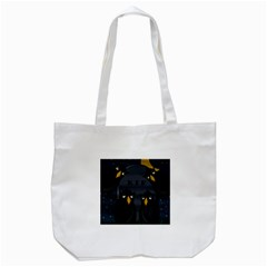 Halloween   Rip Tote Bag (white) by Valentinaart