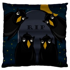 Halloween   Rip Standard Flano Cushion Case (one Side)