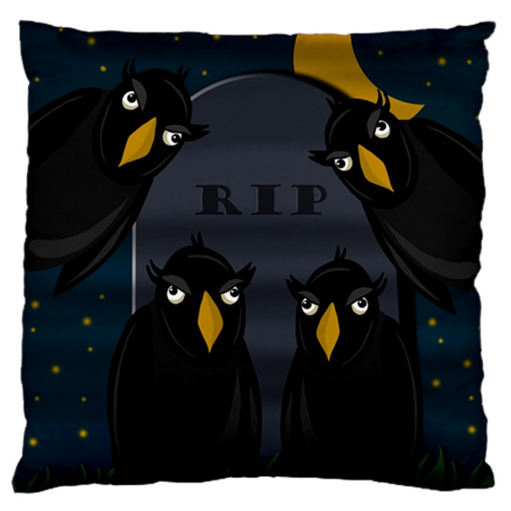 Halloween - RIP Standard Flano Cushion Case (One Side)