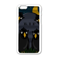 Halloween   Rip Apple Iphone 6/6s White Enamel Case by Valentinaart