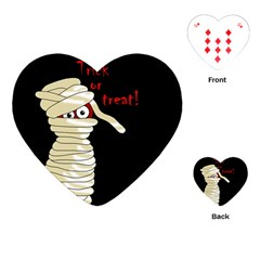 Halloween Mummy   Playing Cards (heart)  by Valentinaart