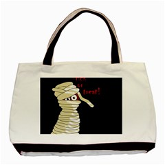 Halloween Mummy   Basic Tote Bag (two Sides) by Valentinaart