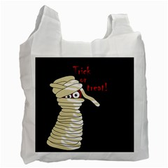 Halloween Mummy   Recycle Bag (one Side) by Valentinaart