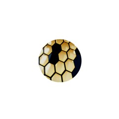 Honeycomb Yellow Rendering Ultra 1  Mini Magnets by AnjaniArt