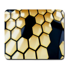 Honeycomb Yellow Rendering Ultra Large Mousepads by AnjaniArt