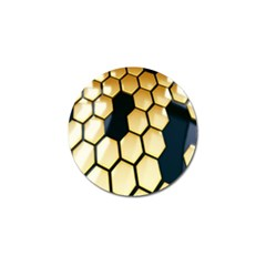 Honeycomb Yellow Rendering Ultra Golf Ball Marker (10 Pack)