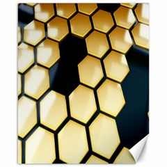 Honeycomb Yellow Rendering Ultra Canvas 16  X 20   by AnjaniArt