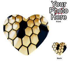 Honeycomb Yellow Rendering Ultra Multi Purpose Cards (heart)  by AnjaniArt