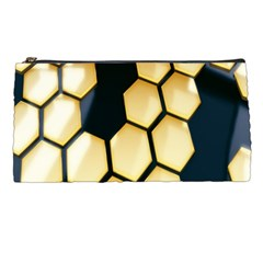 Honeycomb Yellow Rendering Ultra Pencil Cases by AnjaniArt