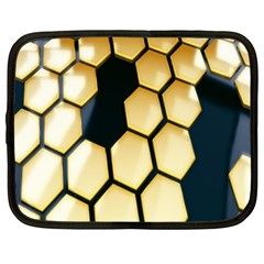 Honeycomb Yellow Rendering Ultra Netbook Case (xl)