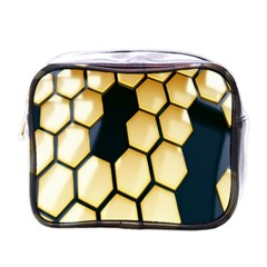 Honeycomb Yellow Rendering Ultra Mini Toiletries Bags