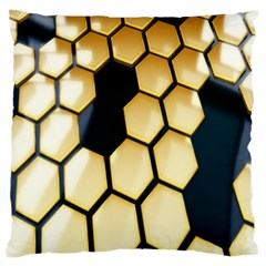 Honeycomb Yellow Rendering Ultra Standard Flano Cushion Case (one Side) by AnjaniArt