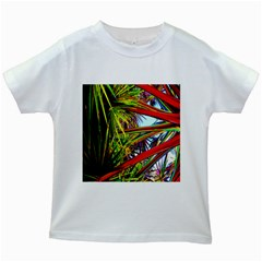 Kostenloses Leaves Kids White T Shirts