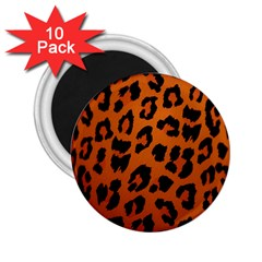 Leopard Patterns 2 25  Magnets (10 Pack)  by AnjaniArt
