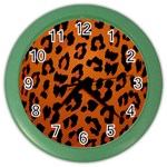 Leopard Patterns Color Wall Clocks Front