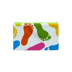 Lip Handprint Cosmetic Bag (xs) by AnjaniArt