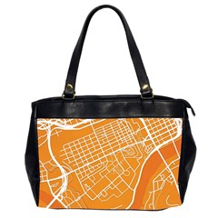 Map Art Office Handbags (2 Sides)  by AnjaniArt