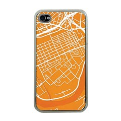 Map Art Apple Iphone 4 Case (clear)