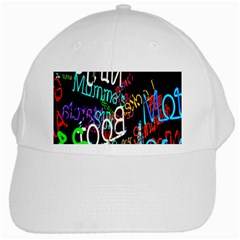 Miami Text White Cap