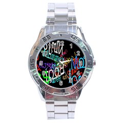 Miami Text Stainless Steel Analogue Watch