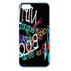 Miami Text Apple Seamless Iphone 5 Case (color)