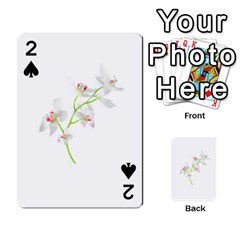Isolated Orquideas Blossom Playing Cards 54 Designs  by dflcprints