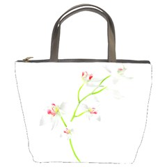 Isolated Orquideas Blossom Bucket Bags by dflcprints