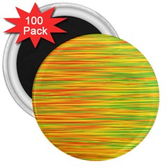 Green And Oragne 3  Magnets (100 Pack) by Valentinaart