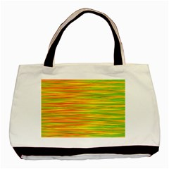 Green And Oragne Basic Tote Bag (two Sides) by Valentinaart