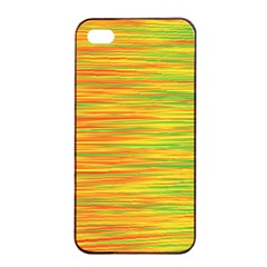 Green And Oragne Apple Iphone 4/4s Seamless Case (black) by Valentinaart