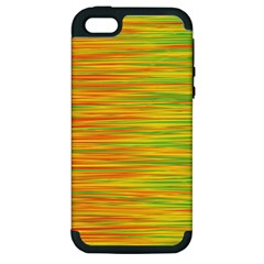 Green And Oragne Apple Iphone 5 Hardshell Case (pc+silicone) by Valentinaart