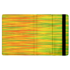 Green And Oragne Apple Ipad 3/4 Flip Case by Valentinaart
