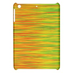 Green And Oragne Apple Ipad Mini Hardshell Case by Valentinaart