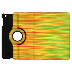 Green And Oragne Apple Ipad Mini Flip 360 Case by Valentinaart
