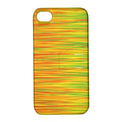 Green And Oragne Apple Iphone 4/4s Hardshell Case With Stand by Valentinaart
