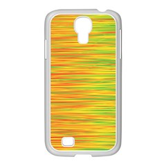 Green And Oragne Samsung Galaxy S4 I9500/ I9505 Case (white) by Valentinaart