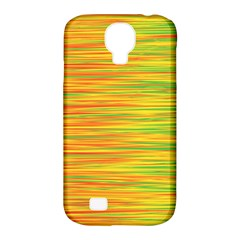 Green And Oragne Samsung Galaxy S4 Classic Hardshell Case (pc+silicone) by Valentinaart